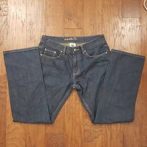 ROOTS 73 Dark Blue Wash Straight Leg Jeans 32x33